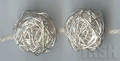 Thai Karen Silver Wire Nest Beads Large Bead  BL116 (2 beads)