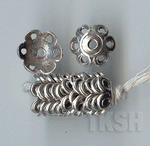 Thai Karen Silver Flower Caps BL413 (10 beads)