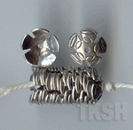 Thai Karen Silver Flower Caps BL423 (10 beads)
