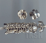 Thai Karen Silver Plain Flower Cap Bead BL429 (10 beads)