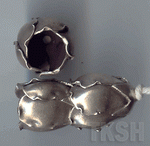 Thai Karen Silver Plain Poppy Caps BL446 (5 beads)