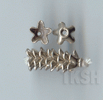 Thai Karen Silver Plain Star Caps BL428 (10 beads)