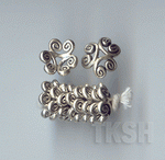 Thai Karen Silver Swirl Flower Caps BL412 (10 beads)