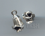 Thai Karen Silver Cute Bud Rose Charm NS180