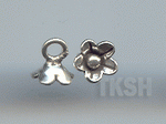 Thai Karen Silver Cute Flower Charm NS159