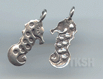 Thai Karen Silver Cute Sea Horse Charm NS037
