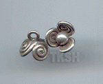 Thai Karen Silver Cute Swirl Flower Charm NS173