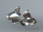 Thai Karen Silver Leaf Print Cute Flower Charm NS163