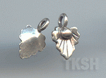 Thai Karen Silver Leaf Print Cute Flower Charm NS167