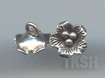 Thai Karen Silver  Leaf Print Little Flower Charm NS165