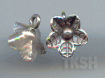Thai Karen Silver Leaf Print Little Flower Charm NS168