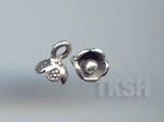 Thai Karen Silver Little Bud Flower Charm NS155