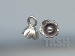 Thai Karen Silver Little Bud Flower Charm NS160