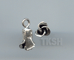 Thai Karen Silver Little Bud Rose Charm NS179