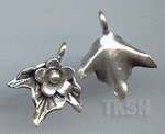 Thai Karen Silver Little Flower With Leaf Charm NS182