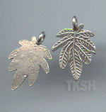 Thai Karen Silver Little Leaf Charm NS148