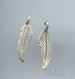 Thai Karen Silver Long Leaf Charm NS144
