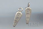Thai Karen Silver Printed Dot Triangle Cone Charm NS117