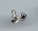 Thai Karen Silver Sweet Bud Rose Charm NS178