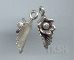 Thai Karen Silver Sweet Flower With Leaf Charm NS181