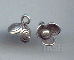 Thai Karen Silver Swirl Print Little Flower Charm NS174