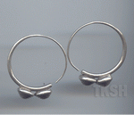 Thai Karen Silver Circle Earring With Bi Triangle Shape On Buttom ER128