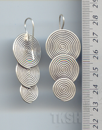 Thai Karen Silver Double Spiral With Bamboo Earrings ER034