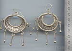 Thai Karen Silver Twist Drop With Woven Circle Earrings ER090