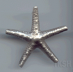 Thai Karen Silver Big Star Fish Pendant NL175