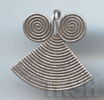 Thai Karen Silver Triangle With Double Swirl Pendant  NM005