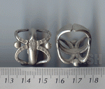 Thai Karen Silver Dot And Radius Printed Ring  RR140