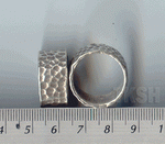 Thai Karen Silver Hammered Ring  RR045