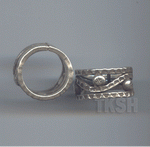 Thai Karen Silver Hammered Ring RR161