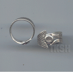 Thai Karen Silver Line With Circle Printed Ring  RR154