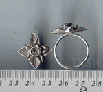 Thai Karen Silver Lovely Flower Ring  RR006