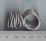 Thai Karen Silver Rugged Wire Wrapped Ring  RR062