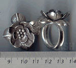 Thai Karen Silver Sweet Flower Ring RR002