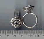 Thai Karen Silver Sweet Rose Ring RR012