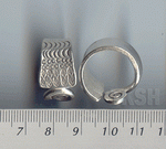 Thai Karen Silver Swirl & Eye Printed Ring  RR086