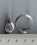 Thai Karen Silver Swirl & Circle Embossed Ring RR084