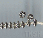 Thai Karen Silver Bi-Crown Beads  BM097 (10 beads)