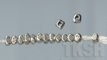 Thai Karen Silver Dot Printed Beads Strand  BM034 (15 beads)