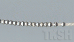 Thai Karen Silver Little Plain Bicone Beads Strand BM139 (20 beads)