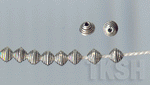Thai Karen Silver Little Wrapped Oval Beads  BM085 (10 beads)