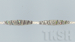 Thai Karen Silver Oval Wrapped Tube Beads  BM081 (5 beads)