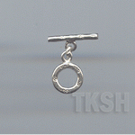 Thai Karen Silver Plain Circle Toggle  TG061