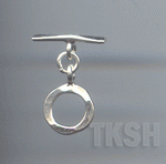 Thai Karen Silver Plain Circle Toggle  TG064