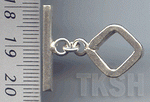 Thai Karen Silver Plain Rhombic Toggle TG032